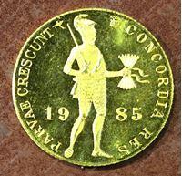 Изображение Нидерланды 1985г. KM# 190.1 • дукат / золото 983 - 3.49 гр. • пруф GEM!!