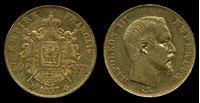 Изображение Франция 1857 г. А KM# 785.1 • 50 франков • золото 900 - 16,13 гр. • AU-
