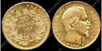 Bild von Франция 1858г. A KM# 781.1 • 20 франков / золото-900 6.45гр. • XF+