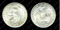 Bild von Эквадор 1916г. TF KM# 51.4 • 2 децима. серебро 900 - 5.0 гр. • MS BU GEM!!