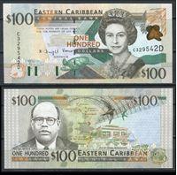 Изображение Восточные Карибы 2000 г. P# 41D • 100 долларов • UNC пресс ( кат. - $220 )