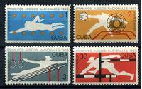 Изображение Куба 1965 г. SC# 980-3 • Национальные игры • MH OG F • полн. серия