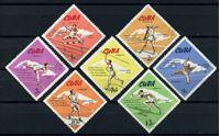 Picture of Куба 1965г. SC# 1040-6  • Легкая атлетика •  Used(ФГ) VF / полн. серия