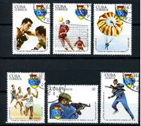 Picture of Куба 1977 г. SC# 2156-9,C260-1 • Армейская спартакиада • Used(ФГ) VF • полн. серия