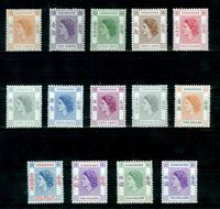 Изображение Гонконг 1954-1962 гг. Gb# 178-191 • Королева Елизавета II • MLH OG XF • полн. серия
