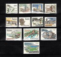 Picture of Португалия  1927-1973 гг.  SC# 1123-1134  • Достопримечательности Португалии •  MLH OG VF+ / полн. серия ( кат.- $15 )