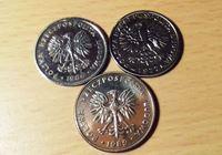 Изображение Польша 1977 - 1989 гг.  • 3 монеты злотых, отличные •  VF-XF