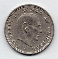 Изображение Дания 1969г.  • 1 крона, Король Фредерик IX •  VF