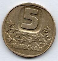 Изображение Финляндия 1979г.  • 5 марок, Ледокол •  VF+