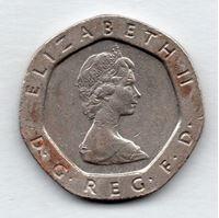 Изображение Великобритания 1983 г. • 20 пенсов • образца 1982 г. • регулярный выпуск • XF
