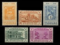 Изображение Эфиопия 1947 г. SC# 273-7 • 50 лет почтовой системе страны • MNH OG XF • полн. серия ( кат.- $50 )