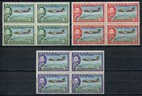 Изображение Эфиопия 1955 г. SC# C38-40 • 10 лет Эфиопских авиалиний кв. блоки • MNH OG XF • полн. серия