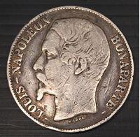 Изображение Франция 1852 г. A • KM# 773.1 • 5 франков • Наполеон III (серебро) • регулярный выпуск • VF-