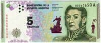 Image de Аргентина 2015 г. • 5 песо • UNC пресс