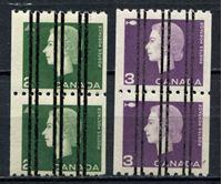 Изображение 1962-63 гг. SC# 406-7 • 2 и 3 центов. Стандарт, рулонные, предгашение • Used(ФГ) XF • пары ( кат.- $6,5 )