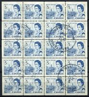 Изображение 1967-72 гг. SC# 458b • 5 центов. Стандарт, блок 20 марок • Used XF ( кат.- $20 )