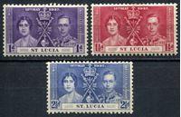 Изображение Сент-Люсия 1937г. Gb# 125-7  • Коронация Георга VI •   VF • полн. серия