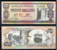Picture of Гайана  2002г.  P#  • 20 долларов •  UNC пресс