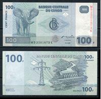 Изображение Конго Д.Р.  2007г.  P# 98 • 100 франков •  UNC пресс