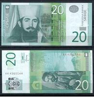 Bild von Сербия  2013г.  P# 55b • 20 динаров •  UNC пресс