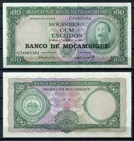 Изображение Мозамбик  1976г.  P# 117 • 100 эскудо •  UNC пресс