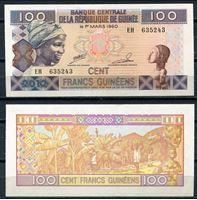Изображение Гвинея  2012г.  P# 35b • 100 франков •  UNC пресс