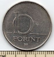 Изображение Венгрия 1993 г. • 10 форинтов • регулярный выпуск