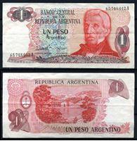 Изображение Аргентина  1983-84 гг.  P# 311 • 1 песо •  XF+