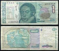Изображение Аргентина  1985-89 гг.  P# 323a • 1 аустрал •  VF+