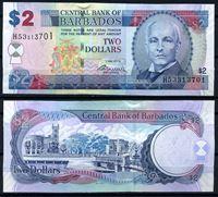Изображение Барбадос  2012г.  P# 66с • 2 доллара •  UNC пресс