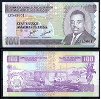 Bild von Бурунди 2007 г. P# 37 • 100 франков • UNC пресс