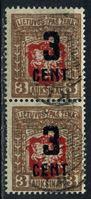 Изображение Литва 1922 г. SC# 121 • 3c. на 3 auk. надпечатка нового номинала RARE!! • Used VF ( кат.- $250 )