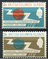 Image de Британские Соломоновы о-ва 1965г. Gb# 127-8  • 100 лет ВТС(ITU) •  MNH OG XF / полн. серия