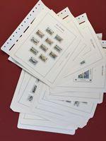 Изображение Мэн о-в 1973-90 гг. Gb# • Коллекция 410 марок и 8 блоков. на листах Leuchturm • Used(ФГ) XF ( кат.- £300 )