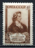 Picture of СССР 1955 г. Сол# 1813 • Ф. Шиллер • Used(ФГ) XF