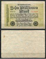 Bild von Германия  1923г.  P# 106 • 10 млн. марок. № 6 цифр •  XF
