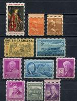 Bild von США 1938-55 гг. 41-3  • лот 10 марок •  MNH OG XF