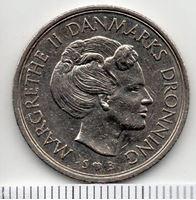 Изображение Дания 1977 г. • 1 крона • Королева Маргрете II • регулярный выпуск • VF
