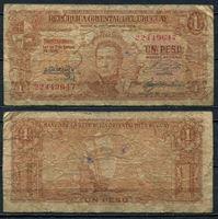Image de Уругвай 1948-51 гг. P# 35a • 1 песо. каравелла Колумба • VG