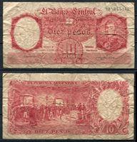 Picture of Аргентина 1953-57 гг. P# 270 • 10 песо • VG+