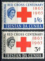 Picture of Тристан да Кунья 1964г. Gb# 69-70  • Красный крест •  MNH OG XF / полн. серия