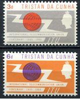 Picture of Тристан да Кунья 1965г. Gb# 85-6  • Телекоммуникационный союз(ITU) •  MNH OG XF / полн. серия
