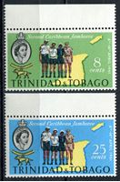 Picture of Тринидад и Тобаго 1961г. Gb# 298-9  • Карибский слет скаутов •  MNH OG XF+ / полн. серия