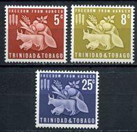 Image de Тринидад и Тобаго 1963г. Gb# 305-7  • Против голода •  MNH OG XF+ / полн. серия
