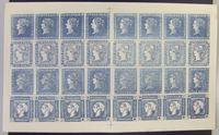 "Image de Маврикий 1948 г. • Лист копии (Privater Nachdruck) ""Голубого Маврикия"" 1847 • Mint NG XF • копия"
