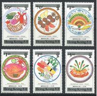 Bild von Гонконг 1990 г. SC# 564-9 • Продукты питания • MNH OG XF • полн. серия ( кат.- $10 )