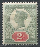 Изображение Великобритания 1887-92 гг. Gb# 200 • 2d.. Королева Виктория. • MH OG VF ( кат.- £34 )