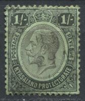 Image de Ньясаленд 1952-54 гг.  Gb# 93  • 1sh. Георг V. стандарт •  Used VF