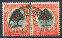 Image de Южная Африка брит. 1933-48 гг.  Gb# 61c  • 6d. Апельсиновое дерево •  Used VF