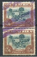 Image de Южная Африка брит. 1947-54 гг.  Gb# 121  • 2sh.6d. Фургон переселенцев XF ( кат.- £30 )